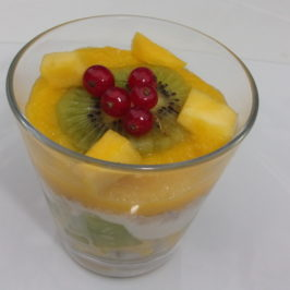 Verrines mangue et kiwi
