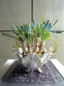 Composition florale muscari