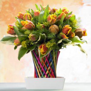 bouquet tulipe orange