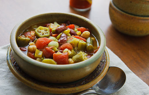 Les Gombos à la tomate